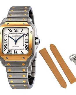 Cartier Santos Automatic Steel and 18kt Yellow Gold Men's Watch