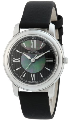 Tiffany & Co. Watch Mark Black / Black Pearl Dial Satin Belt