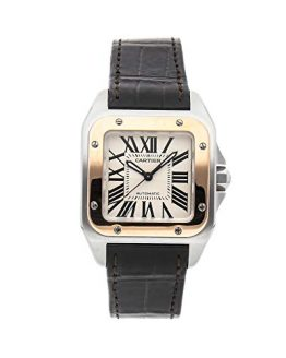 Cartier Santos Mechanical (Automatic) Silver Dial Mens Watch