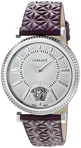 Versace Women's V-HELIX Analog Display Swiss Quartz Purple Watch