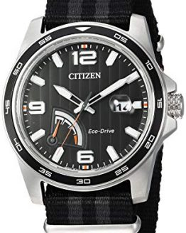 Citizen Men's Eco-Drive Stainless Steel Quartz Nylon Strap