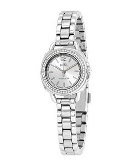 COACH Women's Tatum 23mm Bracelet with Swarovski Crystal Stainless Steel