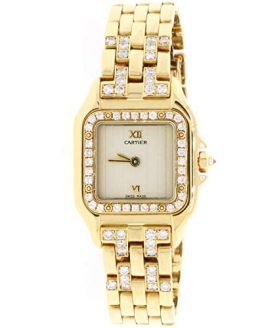 Cartier Panthere 18K Yellow Gold Factory Diamond 22mm Ladies Watch