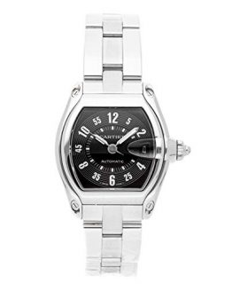 Cartier Roadster Mechanical (Automatic) Black Dial Mens Watch