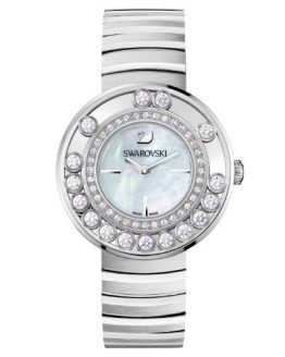 Swarovski Lovely Crystals - White Metal Ladies Watch