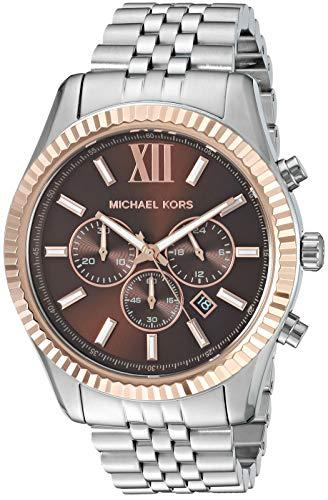 Michael Kors Men's Lexington Quartz Watch with Stainless Steel Strap