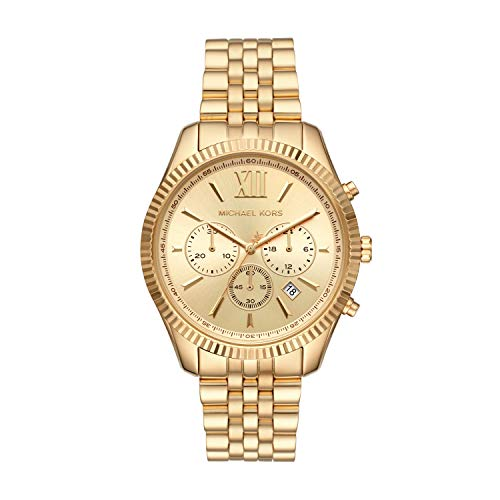 Michael Kors Women's Lexington Quartz Watch with Stainless Steel Strap