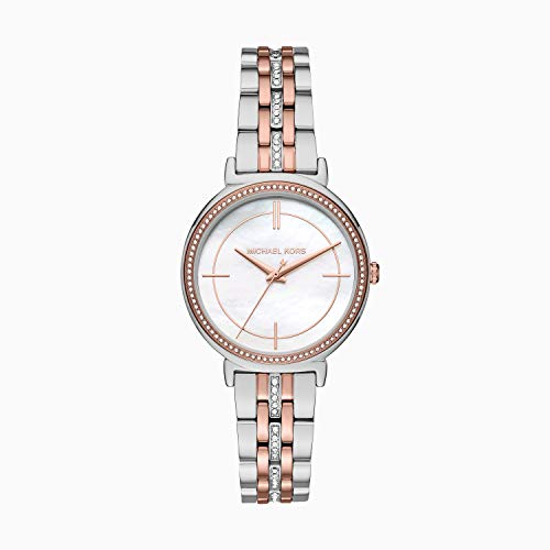 Michael Kors Women's Cinthia Quartz Watch with Stainless-Steel-Plated Strap
