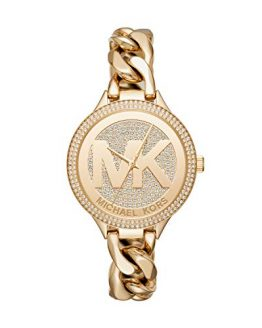 Michael Kors Women's Slim Runway Gold Tone Stainless Steel