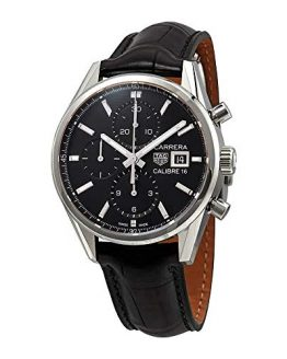 Tag Heuer Carrera Black Dial Automatic Men's Chronograph Watch