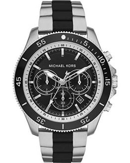 Michael Kors Mens Chronograph Quartz Watch with Stainless Steel Strap