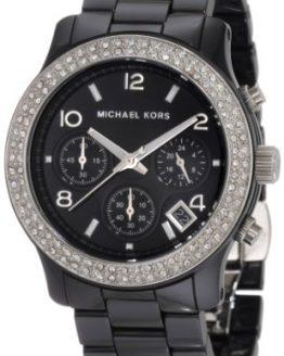 Michael Kors Women's Black Ceramic Runway Glitz Watch