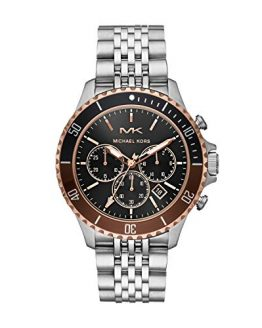 Michael Kors Men's Bayville Quartz Watch with Stainless Steel Strap