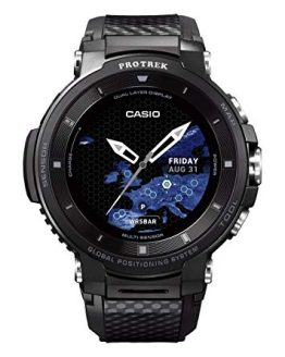 Casio Pro Trek Touchscreen Outdoor Smart Watch Resin Strap, Black