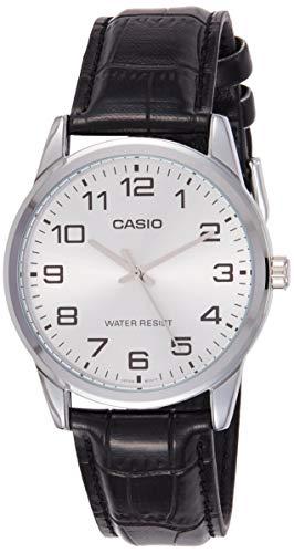 Casio Men's Black Leather Quartz Watch