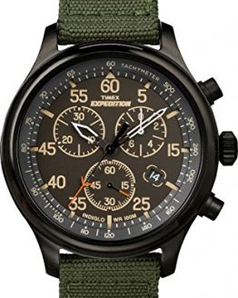 Timex Men's Expedition Field Chronograph Green/Black Nylon Strap Watch
