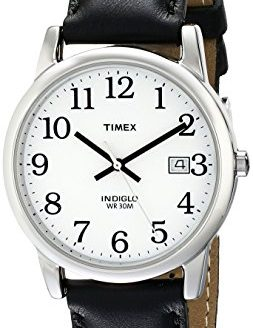Timex Men's Easy Reader 35mm Black Leather Strap Watch