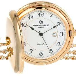 Charles-Hubert, Paris Gold-Plated Quartz Pocket Watch