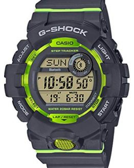 Casio G-Shock Men's Bluetooth G-Squad Digital Watch, Grey/Lime Green