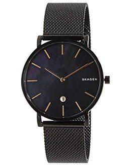 Skagen Men's Hagen Analog-Quartz Stainless-Steel-Plated Strap, Black