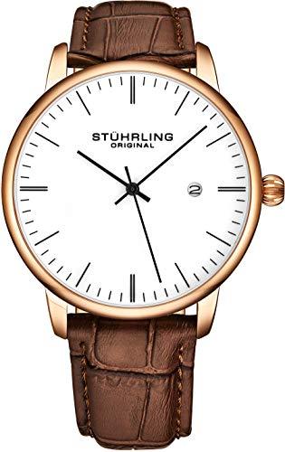 Stuhrling Original Mens Watch Calfskin Leather Strap - Dress + Casual Design