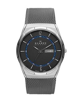 Skagen Men's Melbye Quartz Titanium and Stainless Steel Mesh Casual Watch