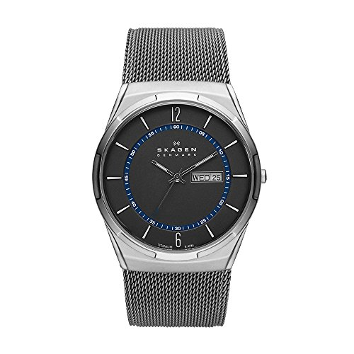 Skagen Men's Melbye Quartz Titanium and Stainless Steel Mesh Casual Watch