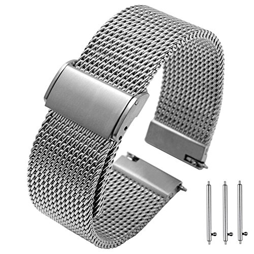 20mm 22mm Quick Release Premium Mesh Stainless Steel Watch Bands Strap