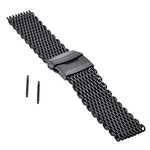 J.VANDER V.2 Milanese 316L Stainless Steel Shark Mesh Dive Watch Band Strap