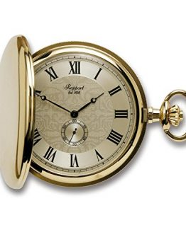 Vintage Pocket Watch with Chain by Rapport - Classic Oxford Hunter Case Pocket