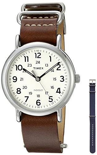 Timex Unisex Weekender Watch With Two Interchangable Bands