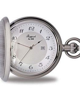 Rapport Oxford Hunter Case Pocket Watch with Date - Silver
