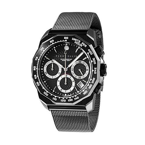 Perry Ellis Mens Watch Decagon GT 44mm Swiss Quartz Chronograph Watch