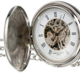 Charles-Hubert, Paris Two-Tone Mechanical Pocket Watch
