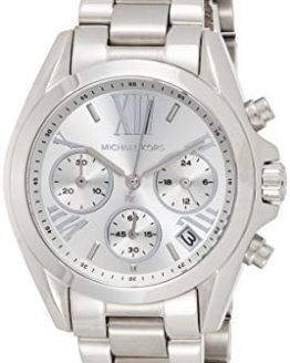 Michael Kors Women's Mini Bradshaw Silver-Tone Watch