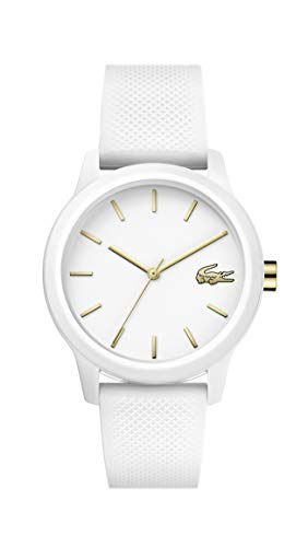 Lacoste TR90 Quartz Watch with Rubber Strap, White
