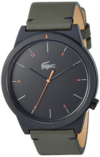 Lacoste Men's Motion Stainless Steel Quartz Watch with Leather Calfskin Strap