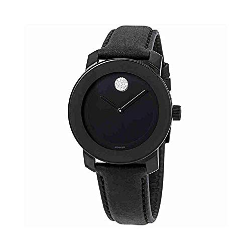 Movado Bold Black Dial Ladies Watch