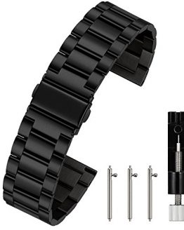 Berfine 20mm Quick Release Watch Strap,Premium Solid Stainless Steel