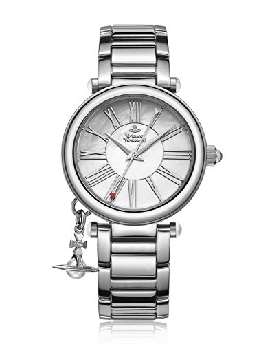 Vivienne Westwood Women's Orb Mother of Pearl Silver Analog Display Swiss Quartz