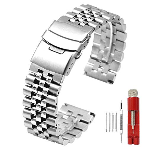 5 Beads Stainless Steel Watch Band