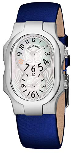 Philip Stein Signature Small Womens Dual Time Watch - Mother of Pearl Face