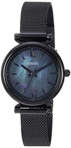 Fossil Women Mini Carlie Quartz Stainless Steel and Mesh Casual Watch Color