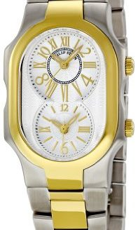Philip Stein Women's Signature Two-Tone Gold Plated Two-Tone Gold Bracelet