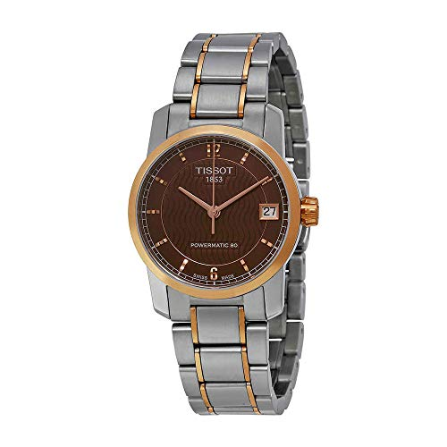 Tissot T-Classic Automatic Brown Dial Two-tone Ladies Watch