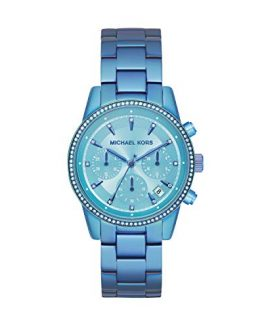 Michael Kors Women's Ritz Quartz Watch with Stainless Steel Strap