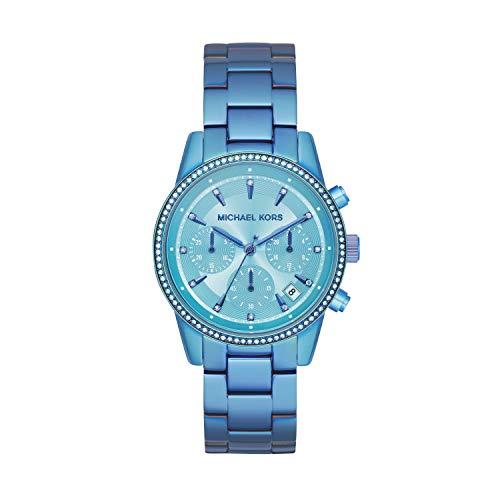 Michael Kors Women's Ritz Quartz Watch with Stainless Steel Strap