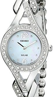 "Seiko Women's ""Jewelry-Solar Classic"" Silver-Tone Stainless Steel Watch"