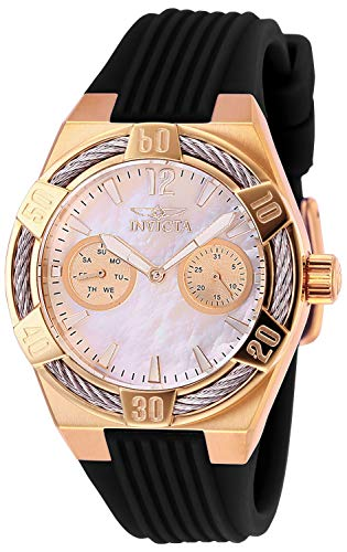 Invicta Women's Bolt Stainless Steel Quartz Watch with Silicone Strap