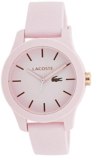 Lacoste Womens Analogue Classic Quartz Watch with Silicone Strap